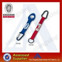 Competitive price blue and red short carabiner lanyard imprint your own logo
