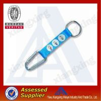 Cute blue multifunction Woven carabiner Short Lanyard with mini compass