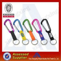 Rainbow colorful manufacturer carabiner short lanyard with high quality