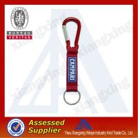 China manufacturer Short lanyard with carabiner hook&PVC patch