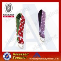Promotional manufacturer heat transfer carabiner short lanyard with high quality