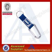 New products for 2014 carabiner leather short lanyard with strap keyring