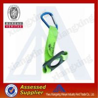 Woven promotional badge Lanyard with carabiner hook