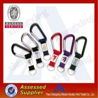 PVC patch sublimation carabiner keychain short lanyard with metal hook