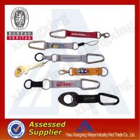 2014 Fashionable multifunction Woven carabiner Short Lanyard with mini compass