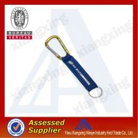 Promptional gift Woven short lanyard with carabiner hook china wholesale