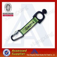 Attractive felt high quality cheap custom short key lanyard with carabiner