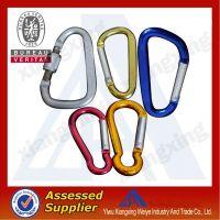 Colorful 50mm fashionable designer climbing safety carabiner hook China wholesale