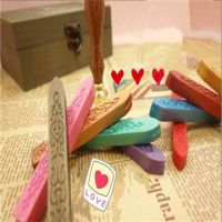 Red Flexible Sealing Wax/colorful sealing wax with wick