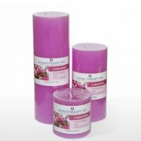 natural aromatherapy scented pillar candle