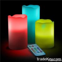 decorative electric candles/led candles for restaurants