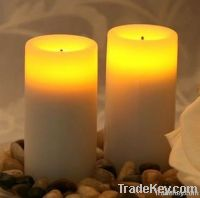 timer flameless led wax candle