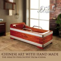 wooden bathtub,Wooden hot tub,short bathtub and shower