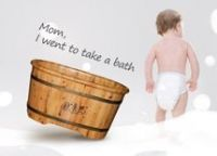 natural color wooden bath tub for baby soaking from China, mini bathtub, mini hot tub