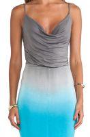 Dongguan clothing fashion woman backless dip-dye jersey maxi dress