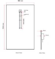 Paneles Solares Double Glass BIPV 285W/290W/295W/300W Solar Panel TUV CE CEC Solar Module