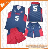 wholesale polyester basketball jersey wear