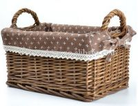 Wicker basket with double handles wholesale