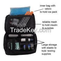 Diabetic Organizer Cooler Bag-for Insulin, Testing Supplies , With Ice Pack Included