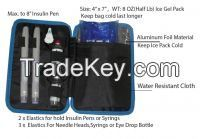 Diabetic Insulin Pen Pocket-for Insulin, Syringes & Sipply Kits ,With Ice Gel Pack Included