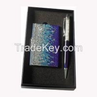 Crystal Business card Case & Crystal Stylus Pen