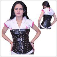 Fullbust Leather Corset With Real Steel bones Ci-1216