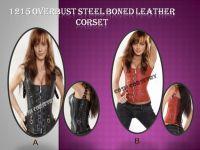 Fullbust Leather Corset With Real Steel bones