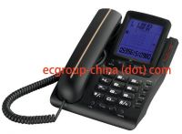 Landline phone in stock, caller ID corded telephone for home and office, OEM manufacturer.