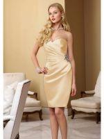 Sweetheart neckline ruffles sexy stain short dress