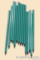 HB black plastic pencil without eraser