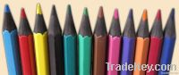 "7""lead colored, black plastic pencil- 12colors"