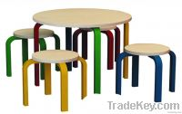 kid round table set+ stool