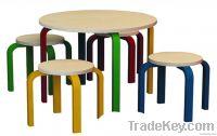 kid round table set+ stool