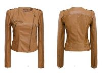 Women's Stylish Slim Fit PU Leather Short Jacket Coat Outwear