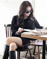 New Arrival Spring/Autumn Sexy Hip Wrap Batwing Three-quatter Sleeve Slim Dress