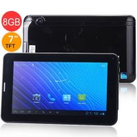 7 Inch A23 Dual Core RAM 512MB ROM 8G Android 4.0 Tablet PC w/ Bluetooth SIM Slot - Black