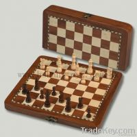 wooden inlaid chess set