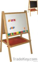 Wooden double side writing board for children