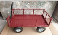 Garden Cart with Pb-free and UV-resistant Powder Coating, Measures 1,370 x 670 x 1,025mm