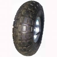 3.50-4 pneumatic tire rubber wheel for hand truck, wheelbarrow, garden cart, trolley