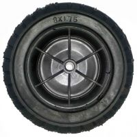 8.00-1.75 FLAT FREE solid tire rubber wheel for hand truck, wheelbarrow, garden cart, trolley