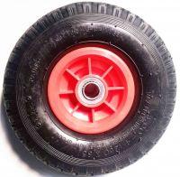 3.00-4 pneumatic tire wheel with plastic rim for hand truck, wheelbarrow, garden cart, trolley