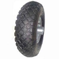 3.00-4 pneumatic tire rubber wheel for hand truck, wheelbarrow, garden cart, trolley