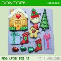 Christmas silicone mould/ cake decoration mould/ chocolate silicone mo