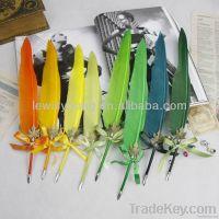 natural goose feather dip pen fountain pen