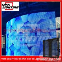 2014 hot sale full color  led curtain display led video display