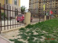 Iron picket fence