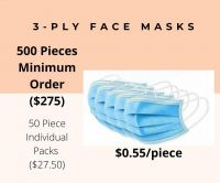 3 Ply Face Mask product available in the US - 3 day delivery Fast