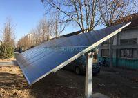 Horizontal single axis solar tracking system