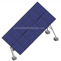 Tilted single axis solar tracking system